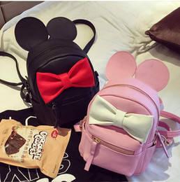 Милый мини рюкзак с бантиком и ушками Минни Маус