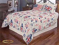 """Комплект постельного белья """"Сны на английском"""" двуспальный евро"""