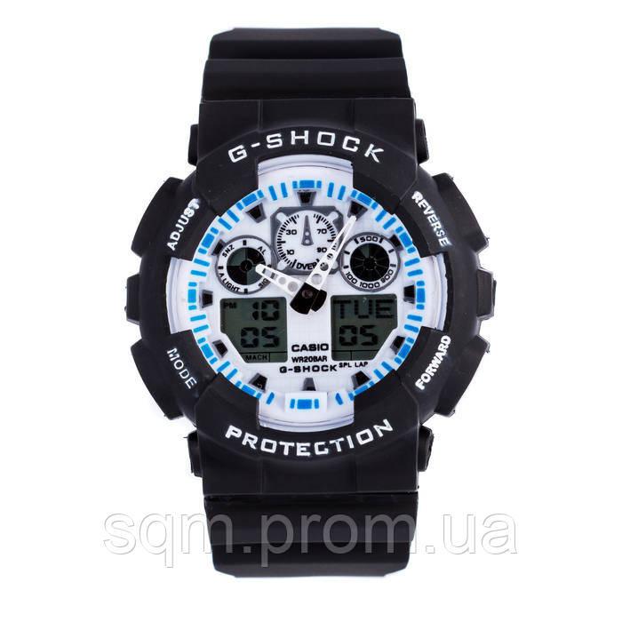Спортивные наручные часы Casio G-Shock ga-100 Black-White Касио реплика 5f7a93d3d0068