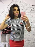 Женская красивая футболка в полоску