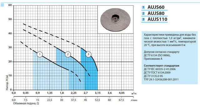 Бытовая насосная станция «Насосы + Оборудование» AUJS 110/24Lss характеристики