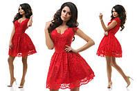 Платье гипюр+фатин 37/7178
