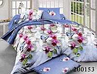 """Комплект постельного белья """"Орхидея голубая"""" семейный"""