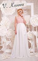 Платье с пояском верх выполнен из дорогого эксклюзивного кружева