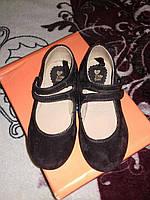 Детские туфли Zy Baby замш коричневые