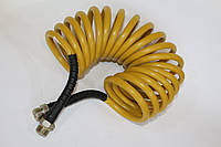 Шланг прицепа спиральный желтый М16  -- 7,5м -- Россия