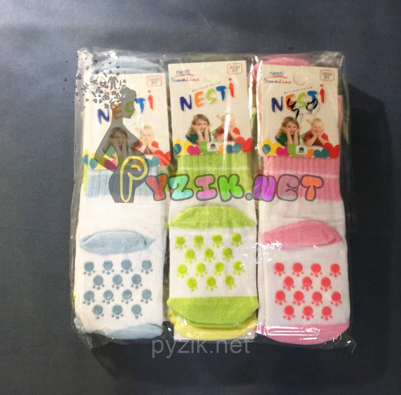 Носочки для малыша нескользящие легкие (интерлок) упаковка 12 пар
