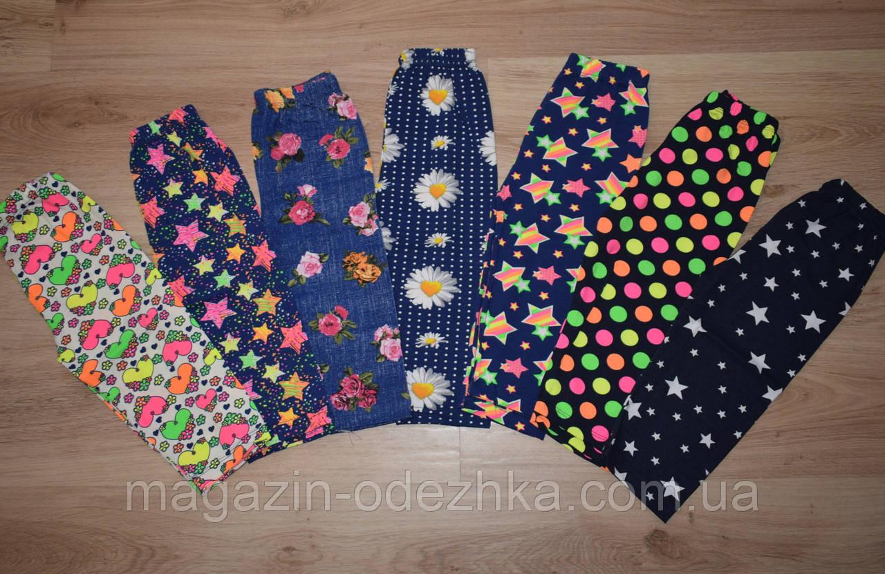 Разноцветные капри для девочки 128-164 рост, Турция