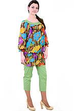 Костюм штани і туніка з бавовни , Інтернет магазин жіночого одягу, 48,50,52,54,56,58, купити кос 016-1.