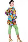 Костюм брюки и туника из хлопка , Интернет магазин женской одежды, 48,50,52,54,56,58, купить кос 016-1., фото 2