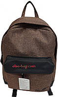 Молодежный прогулочный рюкзак под джинс темно коричневый