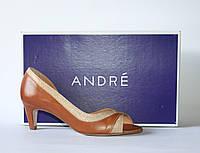 Женские летние туфли ANDRE оригинал натуральная кожа 39