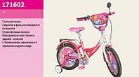 """Детский двухколесный велосипед 16"""" Розовый (17160) с зеркалом заднего вида"""