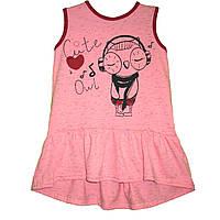 Платье туника для девочек Совушка