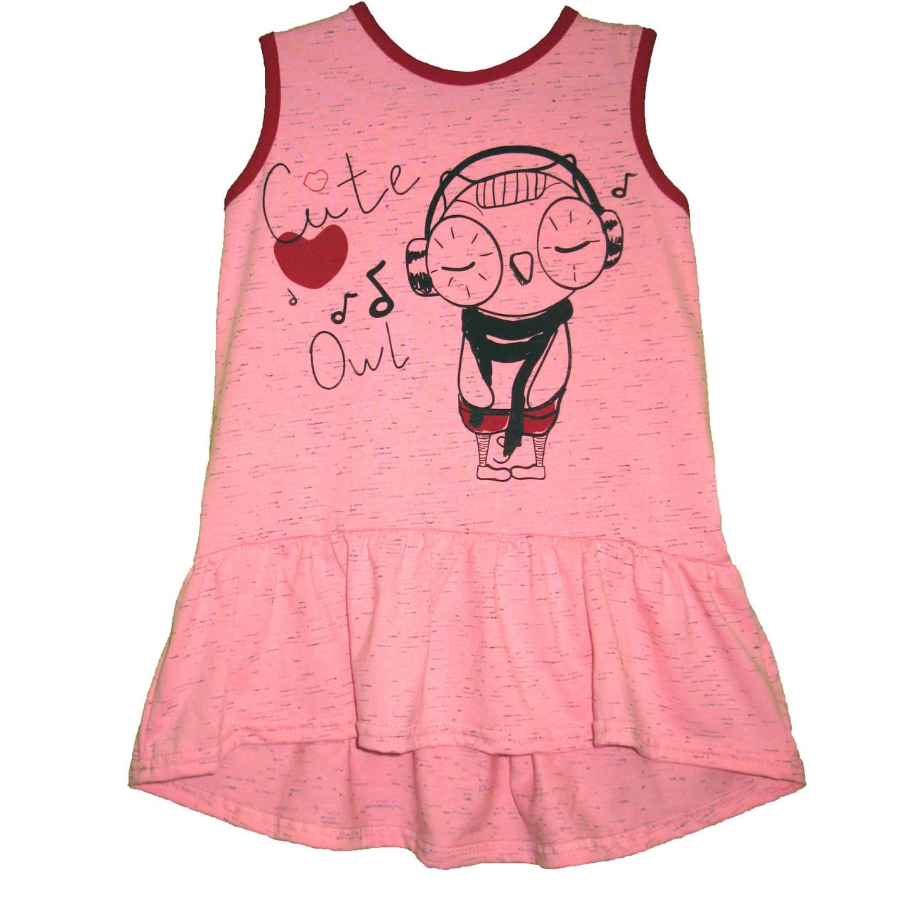 a324c74b5d8 Платье туника для девочек Совушка - ВИСА - украинский трикотаж от  производителя в Полтавской области