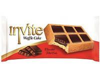 Пирожное-вафли  INVITE c шоколадным соусом , 38 гр