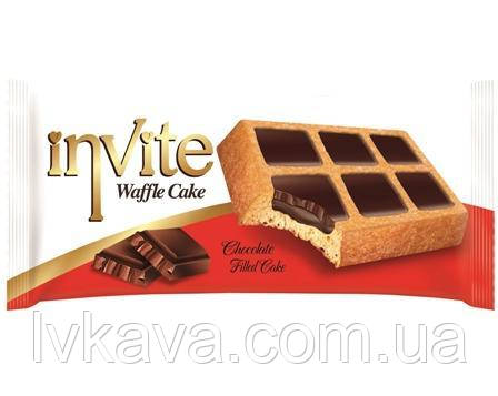 Пирожное-вафли  INVITE c шоколадным соусом , 38 гр , фото 2