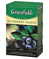 Чай  Greenfield Blueberry Nights листовой 100г.