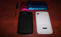 Samsung Galaxy N3 mini экран 3,5 дюйма (2 сим карты, андроид 4) + 2 сменных корпуса!