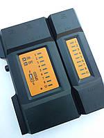 Кабельный тестер для родзвонки телефонных шнуров RJ11 и  RJ45 (витая пара)