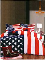 """Комплект постельного белья """"Америка"""" двуспальный евро"""