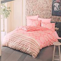 """Комплект постельного белья """"MORBIDO"""" розовый двуспальный евро"""