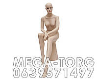 Манекен женский натуральный сидящий L-003