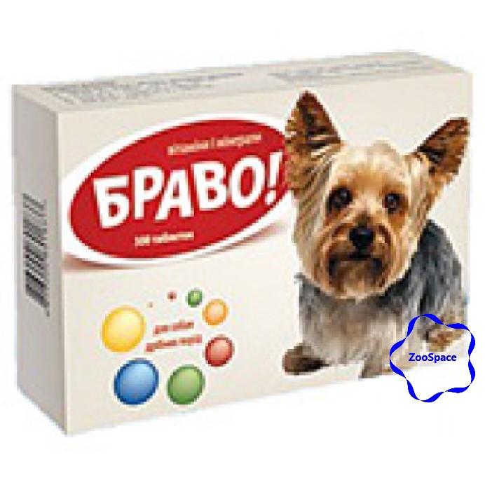 Браво вітаміни і мінерали для собак дрібних порід, 300 таб., Артеріум