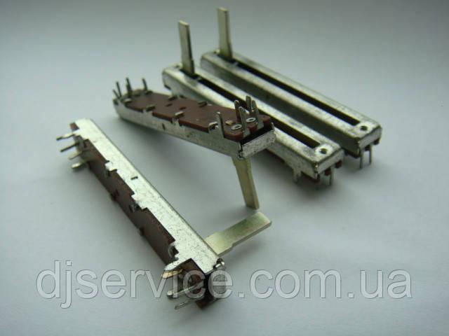 Фейдер 60мм  b50kx2 для Samson MPL1640, MPL2242, Carlsbro megamix 8dsp, MX18D, Soundking AS1602BD AS1202D