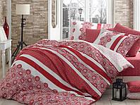 Комплект постельного белья Sateen Exclusive Lisa красный двуспальный евро