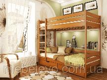 Кровать Дуэт двухъярусная деревянная, ТМ Эстелла, фото 3