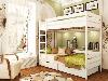Кровать Дуэт двухъярусная деревянная, ТМ Эстелла, фото 4