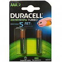 Duracell Аккумулятор Ni-MH AAA/HR03 850 mAh BL 2шт