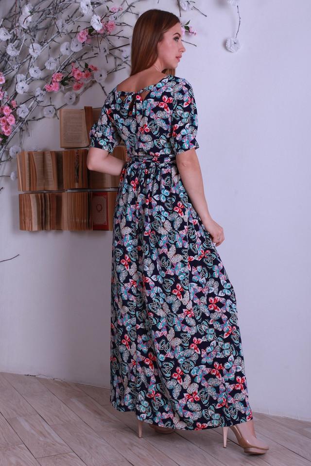8e68efe72fd Шикарное летнее платье в пол с бабочками