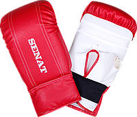 Перчатки снарядные, красно-белые, 1468-red/wht