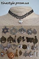 Чокер на шею с разными подвесками сердце дерево солнце лента Колье Ожерелье Шарм Панк подвеска подвеской
