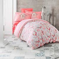 """Комплект постельного белья """"Estave"""" персиковый двуспальный евро"""