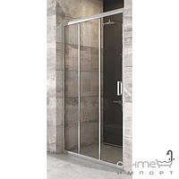 Душевые кабины, двери и шторки для ванн Ravak Душевая дверь раздвижная трёхэлементная Ravak Blix BLDP3-100 полир. алюминий/прозрачное X00HA0C00Z1