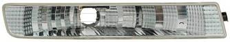 Фонарь указателя поворота на Opel Vivaro  01->06  L (левый, белый, в бампере) — TYC (Тайвань) - TYC18-0380-01