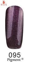 Гель-лак FOX № 095 (темно-баклажановый с микроблеском), 6 мл