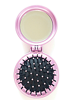 Расческа с зеркалом Dagg розовая , фото 1
