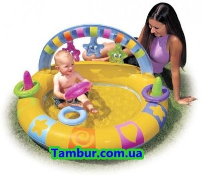 Детский надувной бассейн  INTEX (109 СМ Х 100 СМ)