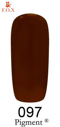 Гель-лак FOX № 097 (винный, эмаль), 6 мл