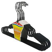 Плечики детские с силиконовым покрытием, в упаковке 10 шт