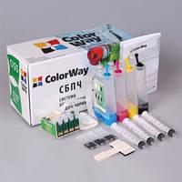 ColorWay СНПЧ CW Epson XP313/413/103/203 (XP413CC-4.1B) с батарейкой и чернилами 4x100 мл