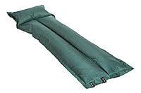 Коврик (матрас) туристический самонадувной с подушкой SJ-G05-8 (зеленый)