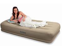 Надувная матраc - кровать Intex, 67748 полуторная с эл. насосом (152*203*38 см)