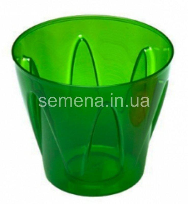 Кашпо Аркада зеленый матовый 1 шт