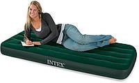 Надувной матрас Intex, 66950 односпальный со встроенным механическим насосом (76*191*22 см)