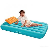 Детский надувной матрас Intex, 66801 с подушкой (157*88*18 см)